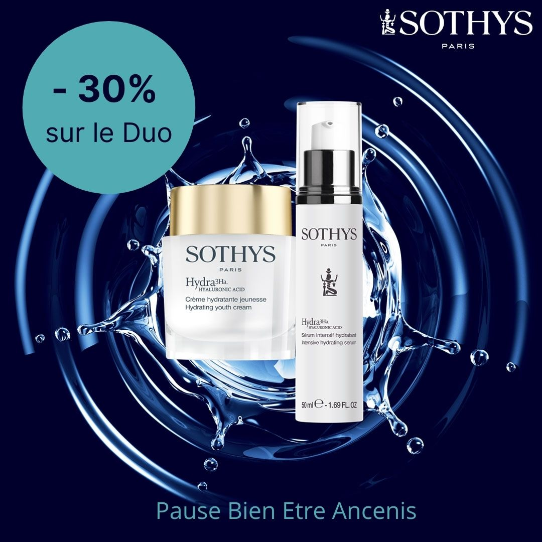 serum intensif hydratant et crème hydratante sothys promotion Duo