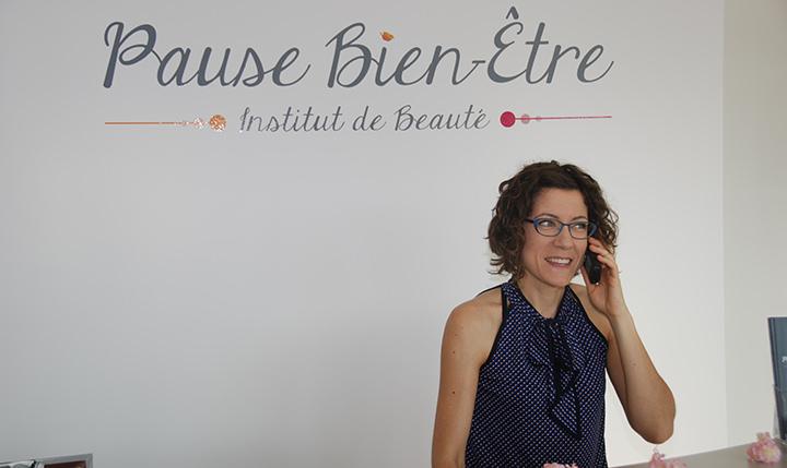 accueil Pause bien-être Sandrine